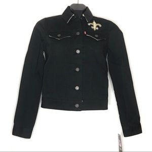 Levi's NFL New Orleans Saints black denim jacket